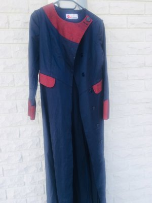 Heavy Pea Coat dark blue-red