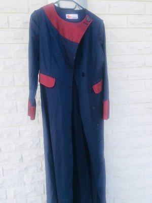 Cappotto stile pilota blu scuro-rosso