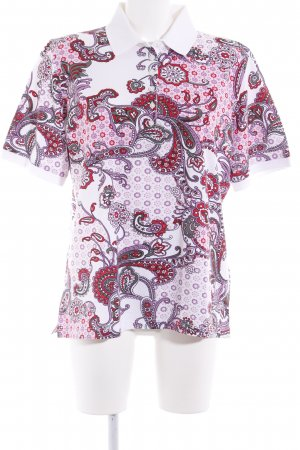 MÄRZ classic Polo-Shirt florales Muster Casual-Look
