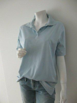 MÄRZ Damen Poloshirt Gr. 40 Shirt hellblau