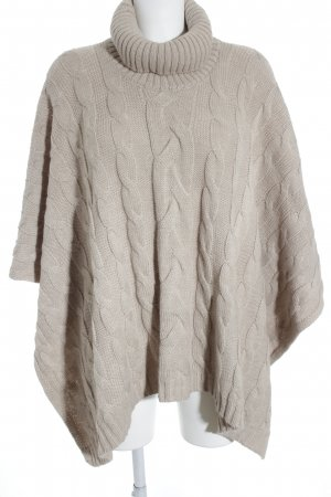 März Poncho beige cable stitch street-fashion look