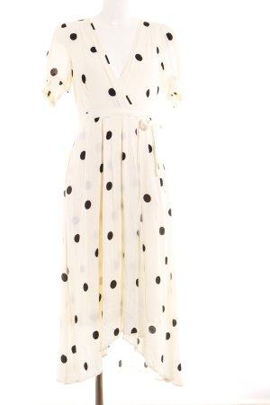 Maeve A-Linien Kleid creme-schwarz Punktemuster Elegant