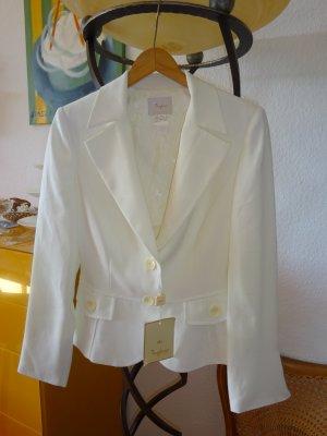 Veste de smoking blanc cassé polyester