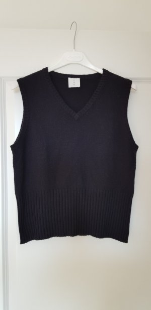 Fine Knitted Cardigan black cashmere
