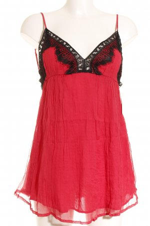Magali Pascal Lace Top raspberry-red-black romantic style