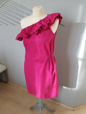 Magenta farbiges Kleid / Sommerkleid / One-Shoulder-Kleid von Joseph