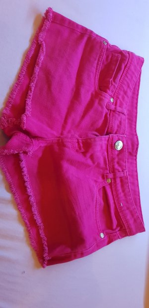 Denim Co. Short en jean magenta