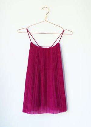 Magenta Pinkes Plissee Top Camisole von Mango Suit S 36