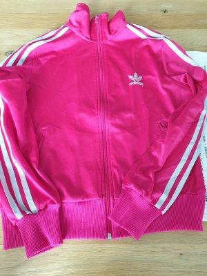 magentafarbene Adidas-Originals Trainingsjacke