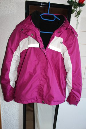 Magentafarbige 2in1 Jacke für Ski, Snowboard, Wintersport / Gr.158/64, S