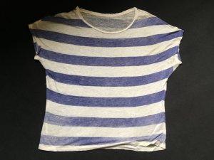 Majestic Camicia oversize blu-bianco