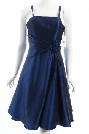 Magic Nights Cocktailkleid dunkelblau Glanz-Optik