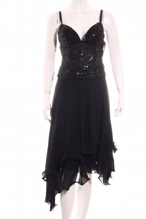 Magic Nights Cocktailkleid schwarz Glitzer-Optik