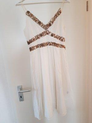 Magic Women Kleid weiss gold S M