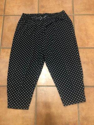 Magna Pantalone Capri bianco-nero