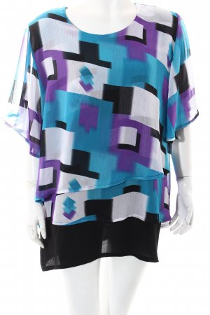 Magna Short Sleeved Blouse spots-of-color pattern casual look