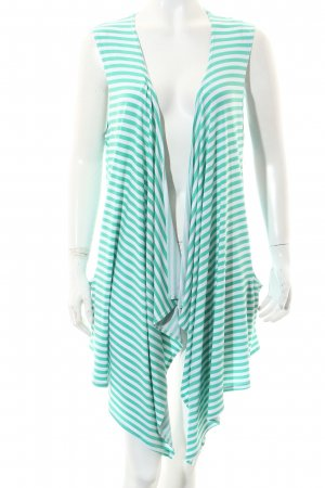 Magna Vest white-mint striped pattern casual look