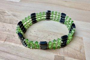 Magnet Halskette/Armband grün/schwarz