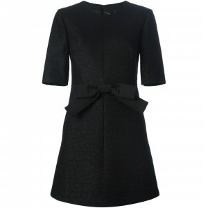 Magnificent Bow Detail Shift Cocktail Saint Laurent Dress