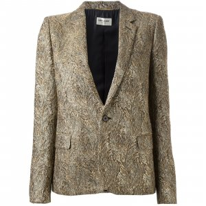 Magnificent Saint Laurent Metallic Gold Jacket