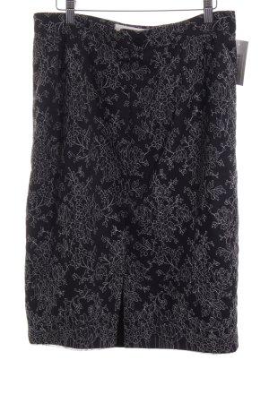 Mahi Degenring Couture Midirock schwarz-weiß Blumenmuster Casual-Look