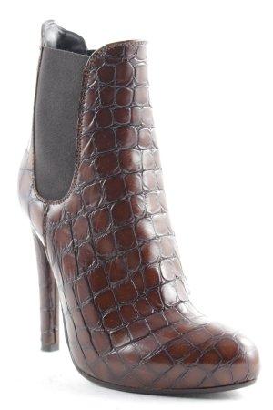 Mai piu senza Ankle Boots braun-schwarz Animalmuster Animal-Look