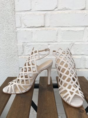 Mai piu senza Strapped High-Heeled Sandals cream leather