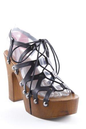 Mai piu senza High Heel Sandaletten schwarz-hellbraun Elegant