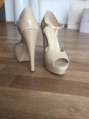 Mai piu senza Platform High-Heeled Sandal cream-nude