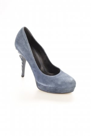 Mai piu senza High Heels stahlblau Party-Look