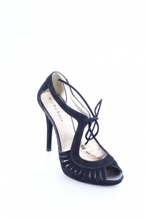 Mai piu senza Peeptoe Pumps schwarz Wildleder-Optik