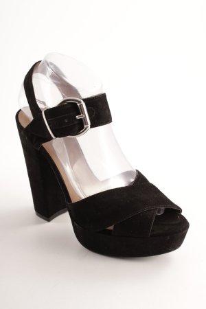 Mai piu senza Plateau-Sandaletten schwarz Elegant