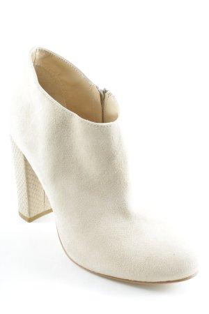 Mai piu senza Reißverschluss-Stiefeletten beige Animalmuster Elegant