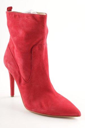 Mai piu senza Reißverschluss-Stiefeletten rot Business-Look