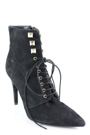Mai piu senza Schnür-Stiefeletten schwarz Elegant