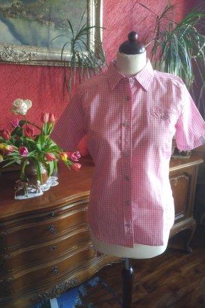 Maier Sports Blusa a cuadros rosa