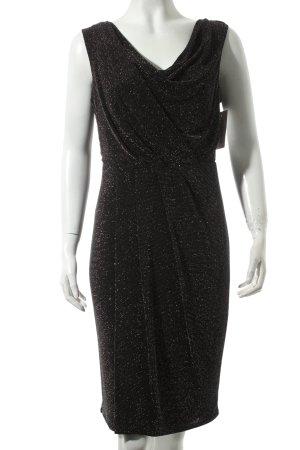 Maille Demoiselle Vestido de noche negro estampado a lunares estilo fiesta