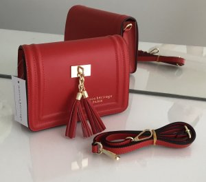 Crossbody bag dark red-brick red leather