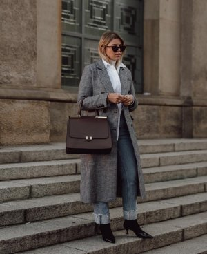 Maison Héroïne Briefcase taupe leather