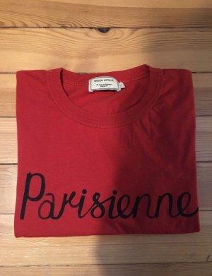 Maison Kitsuné T-Shirt Parisienne Gr. S rot