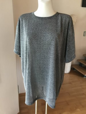 Maison Margiela Paris MM6 Shirt Lurex NEU grau silber oversized
