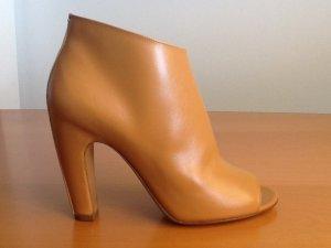 Maison Margiela Peep-Toe Ankle Boot, Camel