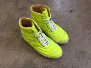 Maison Martin Margiela Sneaker alta giallo neon-bianco Pelle