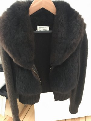 Maison Martin Margiela echt Pelz Jacke Braun Fur Jacket Gr. S-M IT 42