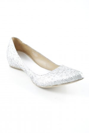Maison Martin Margiela for H&M Spitz-Pumps silberfarben Glitzer-Optik