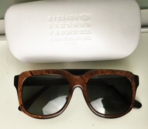 Maison Martin Margiela Angular Shaped Sunglasses black-brown synthetic material