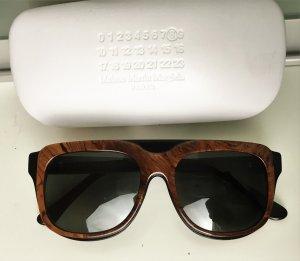 Maison Martin Margiela Hoekige zonnebril zwart-bruin kunststof