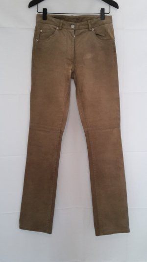 Maison Martin Margiela Leather Trousers light brown