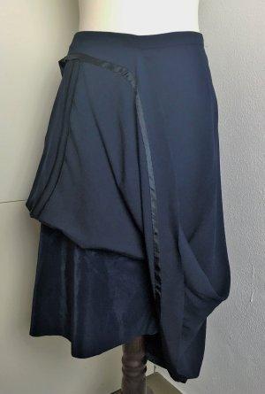 Maison Martin Margiela for H&M Jupe asymétrique bleu foncé-noir tissu mixte