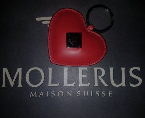 Maison Mollerus Key Chain carmine leather